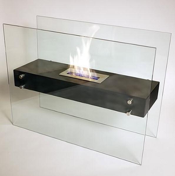 31 49 Quot La Strada Ethanol Floor Bio Fireplace