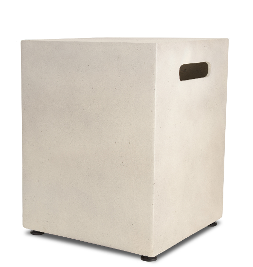 ... Fireplaces :: Decorative Square Mezzo Antique White Propane Tank Cover