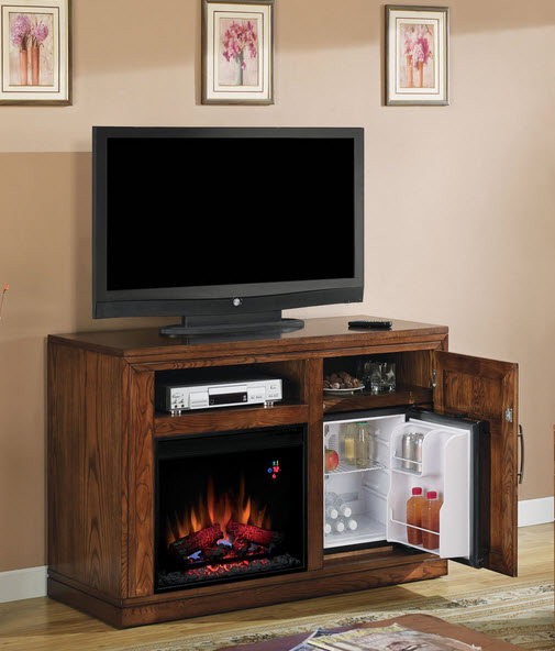 fireplace party time oak electric fireplace media console