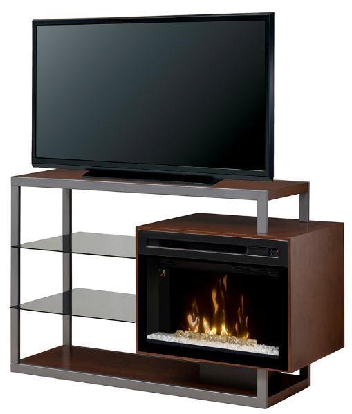 53 25 Quot Dimplex Hadley Walnut Media Console Fireplace