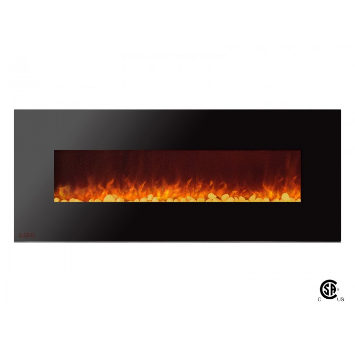 60 Quot Ignis Royal Electric Wall Fireplace With Pebbles