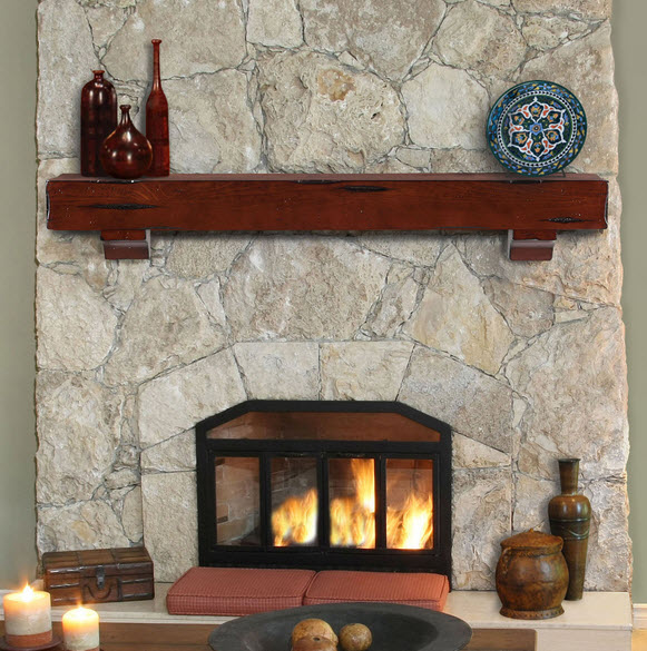48 Quot 60 Quot 72 Quot The Shenandoah Mantel Shelf Cherry Finish