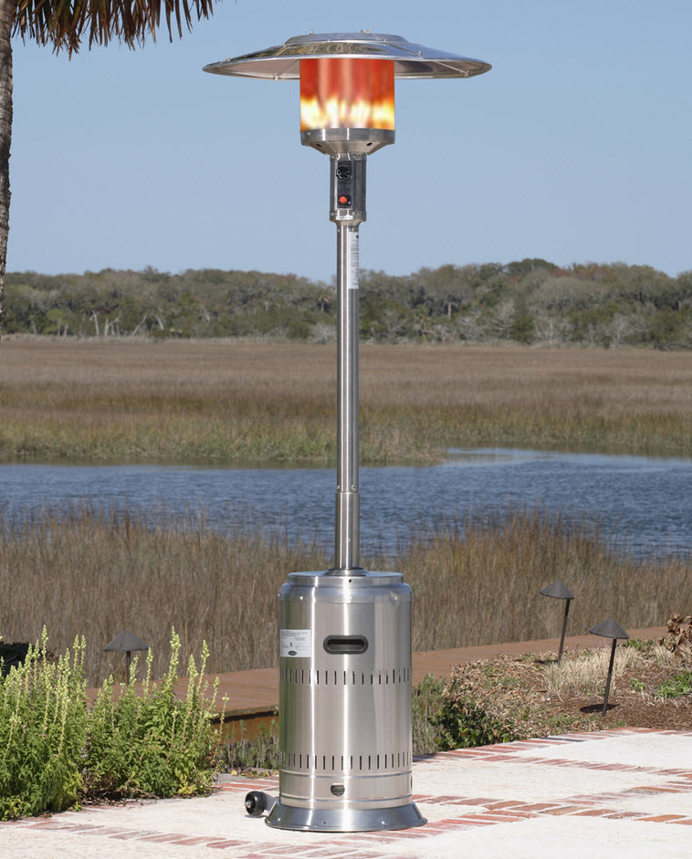 Restaurant patio heaters  89'' Lotus Stainless Steel Commercial Patio Heater