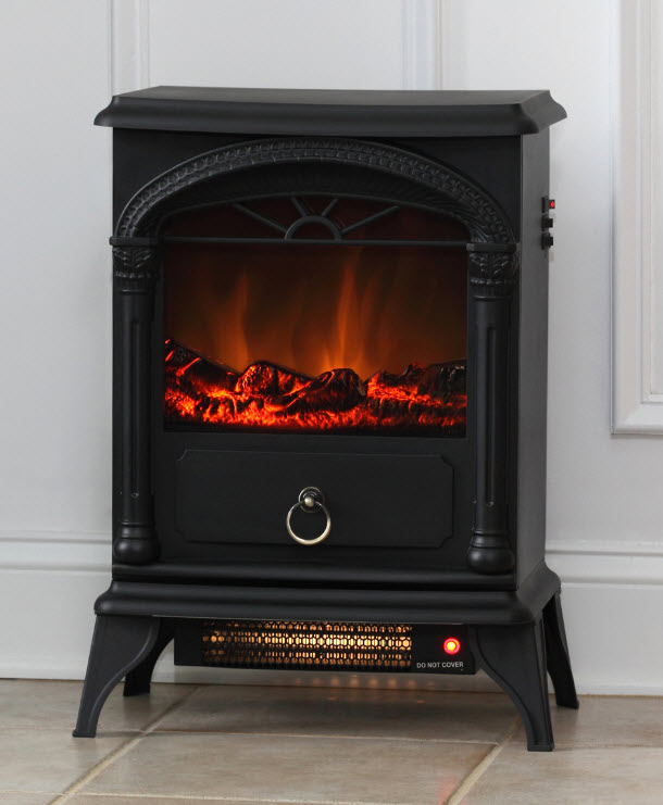 Vernon stove electric fireplace for Electric fireplace motor noise