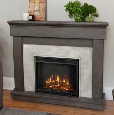 49 6 Cascade Cast Dune Stone Electric Fireplace