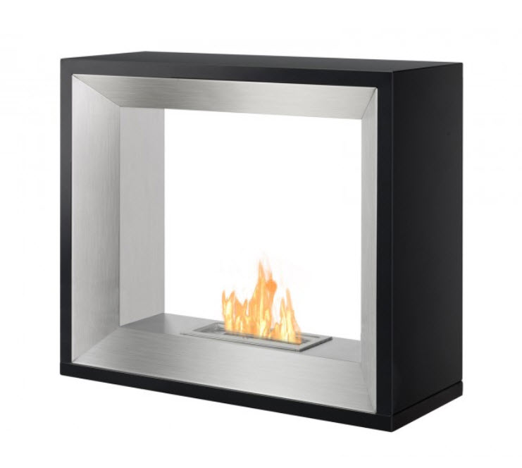 "30"" Ignis Tempo Freestanding Ventless Ethanol Fireplace"