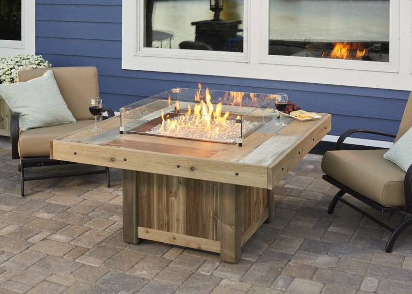 48 25 Quot Vintage Outdoor Fire Pit Table