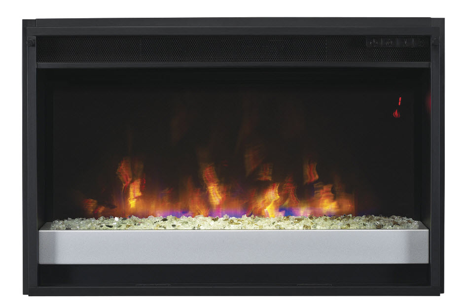 26 spectrafire contemporary electric fireplace insert for Contemporary fireplace insert