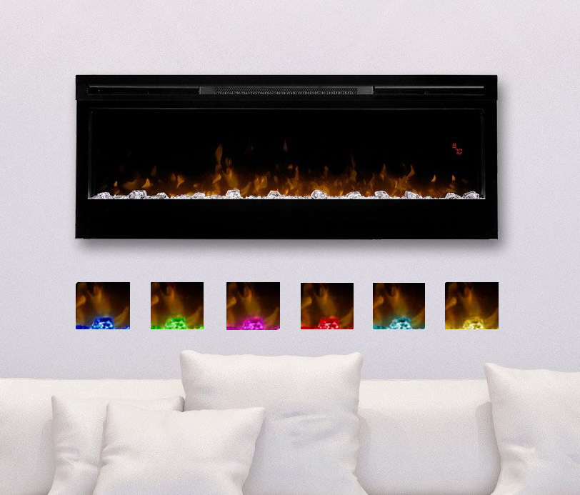 Wall mounted electric fireplaces mount on the wall to offer a modern feel. Wall fireplaces saves space and energy.