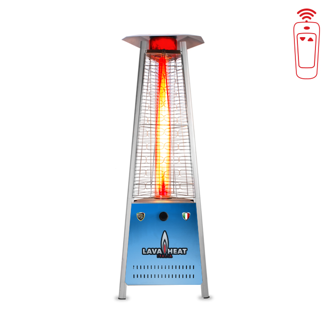 Italia Triangular 6 Ft. Commercial Flame LED Patio Heater With Remote