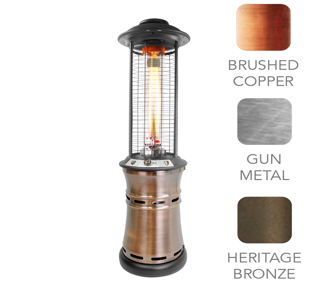 Italia Cylindrical Collapsible 6 Ft. Commercial Flame Patio Heater