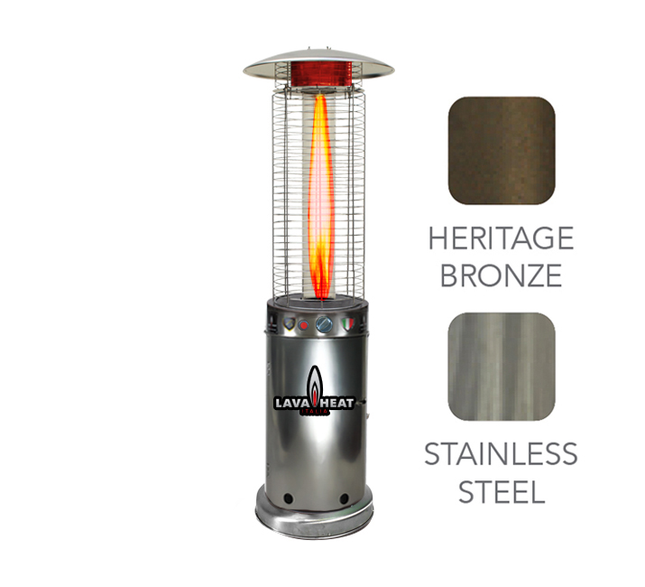 italia cylindrical 6 ft commercial flame patio heater