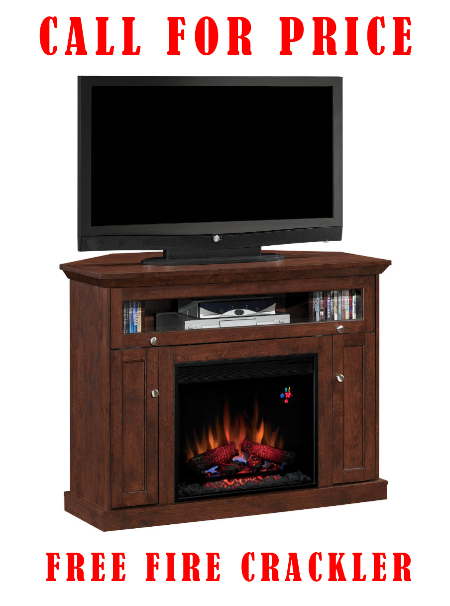 46.25'' Windsor Antique Cherry Entertainment Center Electric Fireplace - 23DE9047-PC81- CLEARANCE ITEM!