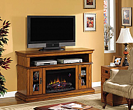 60'' Brookfield Premium Oak Entertainment Center Electric Fireplace - 26MM2209-O107