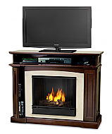 """46.5"""" Ratherford Mahogany Gel Entertainment Center Fireplace"""