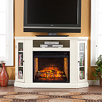 "48"" Claremont Convertible Media Infrared Fireplace - Ivory - FI9314"