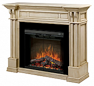 "63"" Dimplex Kendal Parchment Purifire Electric Fireplace"