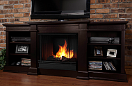 "72"" Fresno Indoor Dark Walnut Gel Media Fireplace"