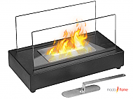 "13.97"" Vigo Black Ventless Tabletop Bio Ethanol Fireplace"