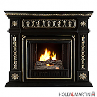 "47"" Donovan Gel Fuel Fireplace - Black"