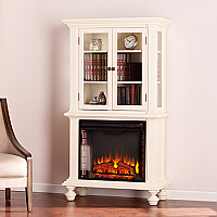 "33.25"" Townsend Electric Fireplace Curio - Antique White - FE9828"