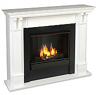 "48"" Ashley White Gel Fuel Fireplace"