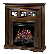 "37.5"" Dimplex Acadian Walnut Electric Fireplace"
