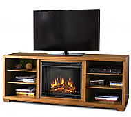 "68.9"" Marco Dark Walnut Entertainment Center Electric Fireplace"
