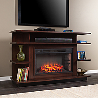 "63"" Granville Media Espresso/Ebony Stain Electric Fireplace - FE9031"