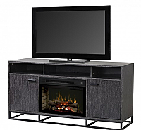 "64"" REILY MEDIA CONSOLE FIREPLACE  25"" Glass Ember Bed firebox -GDS25LD-1660GC"