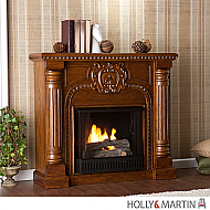 "45.25"" Romano Gel Fuel Fireplace - Salem Antique Oak"