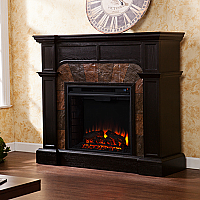 "45.5""Cartwright Convertible Ebony Electric Fireplace - FE9288"