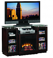 47.5'' Ashburn Espresso Entertainment Center Electric Fireplace