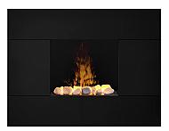 "35.5"" Dimplex Tate OptiMyst Black Wall Mount Electric Fireplace"