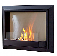 "30.1"" Envision Black Wall Fireplace"