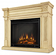 "35.75"" Elise Antique White Electric Fireplace"