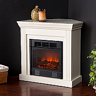 "29.5"" Holly & Martin Bastrop Petite Convertible Electric Fireplace-Ivory"