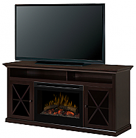 "62"" Dimplex Newman Espresso Media Console Fireplace - GDS25LD-1390DR - GDS25GD-1390DR"
