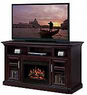 "66"" Dimplex Bailey Espresso Entertainment Center Fireplace"