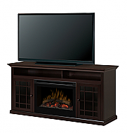 "62"" Dimplex Hazelwood Espresso Entertainment Center Fireplace"