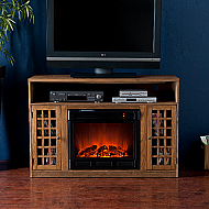 48'' Holly & Martin Mason Media Electric Fireplace-Weathered Oak