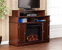 "47.75"" Lynden Espresso Media Fireplace - FE9391"