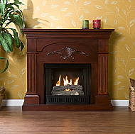 "44.75"" Holly & Martin Salerno Gel Fireplace-Mahogany"