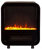 "15"" Black Skyscape Electric Fireplace Stove"
