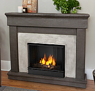 "49.6"" Cascade Cast Dune Stone Gel Fireplace"