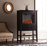 "32.25"" Vickery Corner Convertible Electric Fireplace Storage Tower - FE9835"