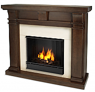 "49.9"" Porter Vintage Black Mahogany Slim Gel Fireplace"