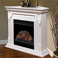 "36.75"" Dimplex Warren White Convertible Electric Fireplace - CFP3902W"