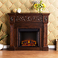 "44.5"" Holly & Martin Huntington Electric Fireplace-Espresso"