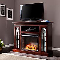 "48"" Yorklyn Espresso Media Electric Fireplace - FE9331"